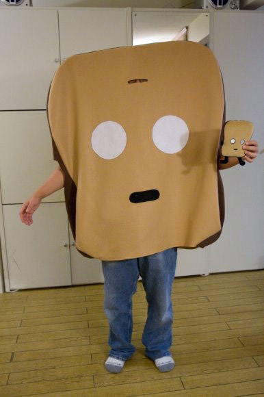 jerod even had keri make him a mr toast costume for halloween last year that is so cool